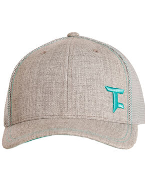 Tuff Cooper Men's Teal Logo Mesh Cap, Grey, hi-res