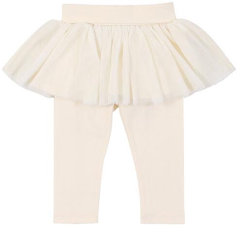 Wrangler Infant Girls' White Leggings with Tulle Skirt, White, hi-res