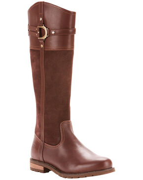 Ariat Women's Loxley H2O Chocolate Riding Boots, Chocolate, hi-res