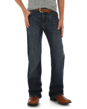 Wrangler 20X Boys' 42 Vintage Boot Jeans, Dark Blue, hi-res