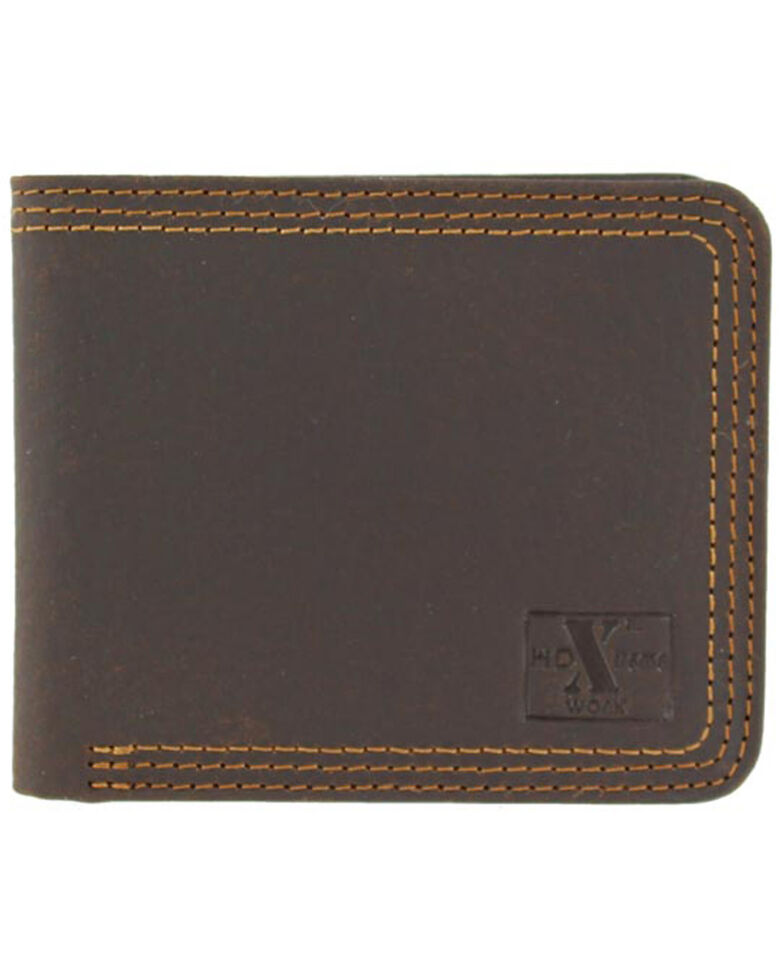 Nocona HD Xtreme Bifold Triple Stitch Wallet, Brown, hi-res