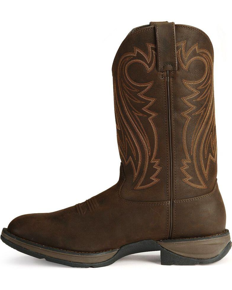 Durango Rebel Men's Chocolate Pull-On Western Boots - Round Toe, Chocolate, hi-res
