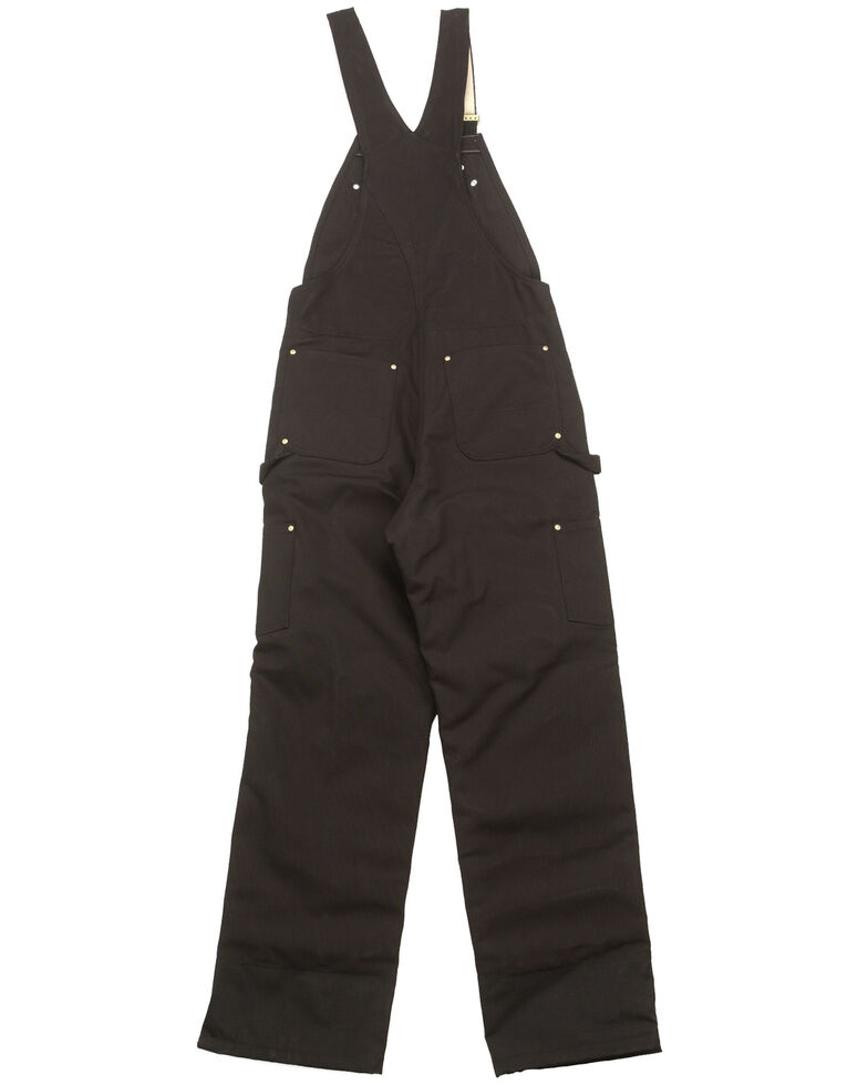 Carhartt Quilt Lined Zip To Thigh Bib Overalls - Big & Tall, Black, hi-res