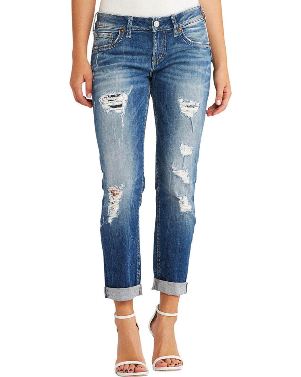 Silver Jeans Women's Sam Boyfriend Jeans , Indigo, hi-res