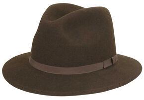 Country Gentleman Wilton Felt Fedora, Brown, hi-res
