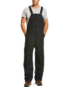Ariat Men's FR Insulated Bib 2.0 Overalls , Black, hi-res