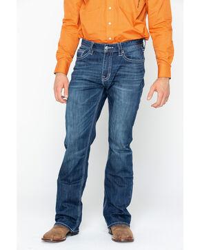 Rock & Roll Cowboy Men's Double Barrel Reflex Boot Cut Jeans , Blue, hi-res