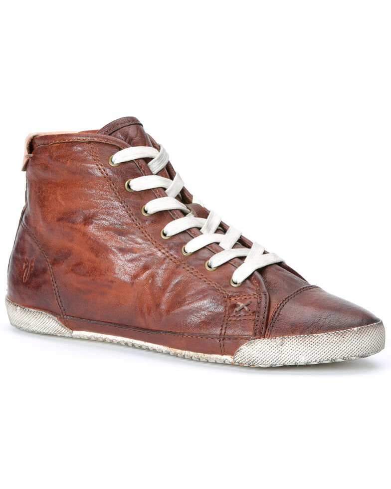Frye Women's Melanie High-ASV Sneakers, Cognac, hi-res