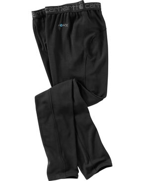 Carhartt Men's Base Force Cool Weather Bottoms - Big & Tall, Black, hi-res