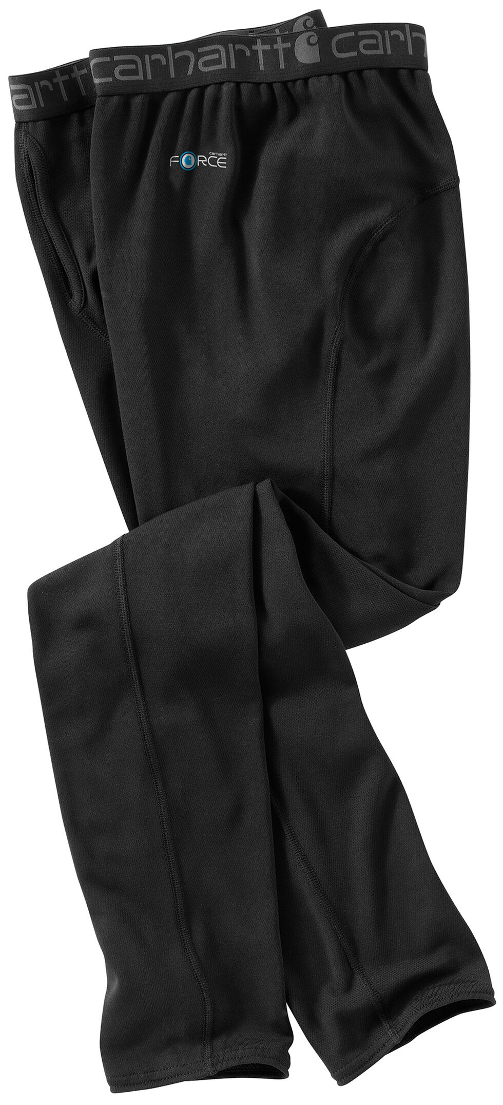 Carhartt Men's Base Force Cool Weather Bottoms, Black, hi-res