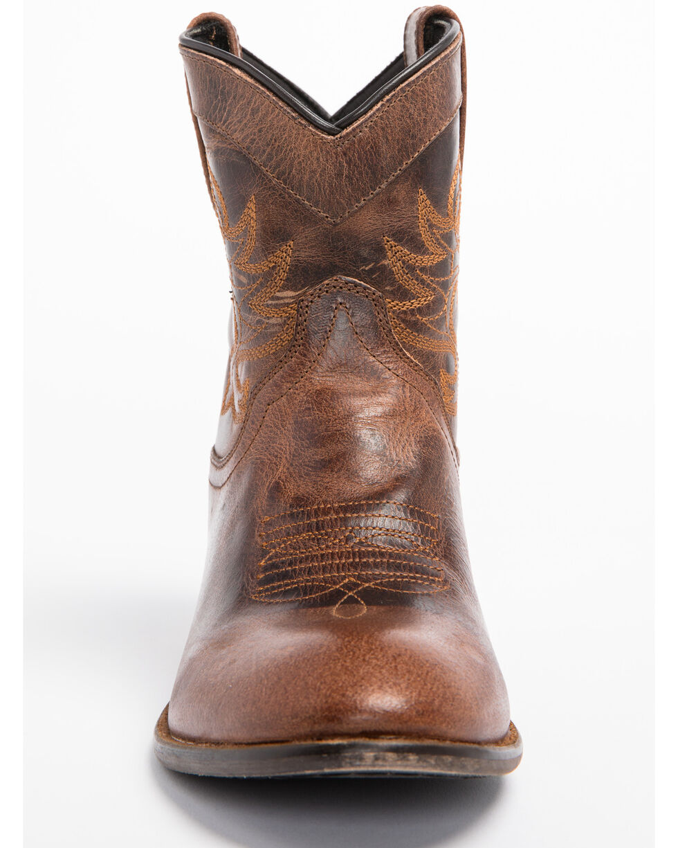 Dingo Women's Willie Cowgirl Boots - Round Toe, Brown, hi-res
