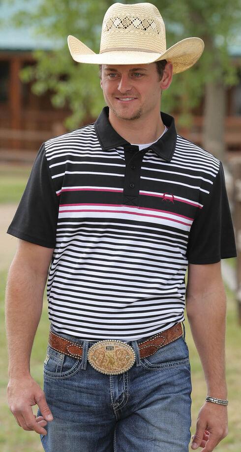 Cinch Men's Multi Striped Polo, Multi, hi-res