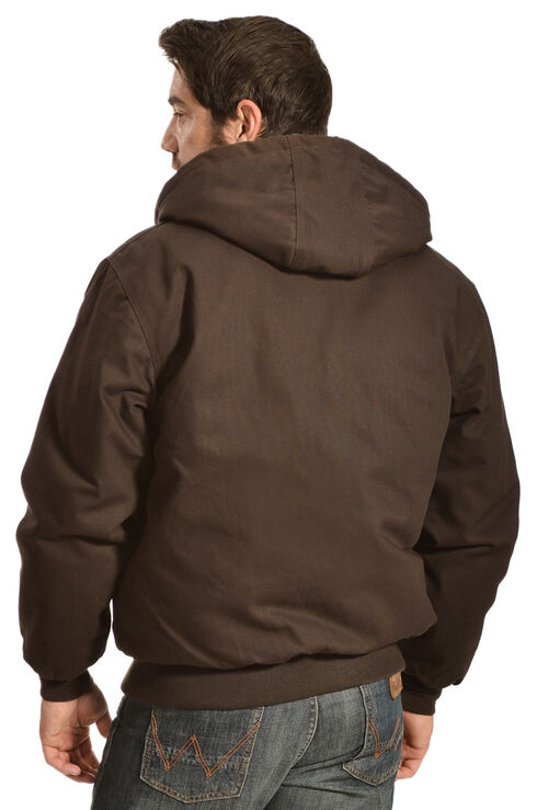 Gibson Trading Co. Men's Hooded Chocolate Brown Jacket, Chocolate, hi-res