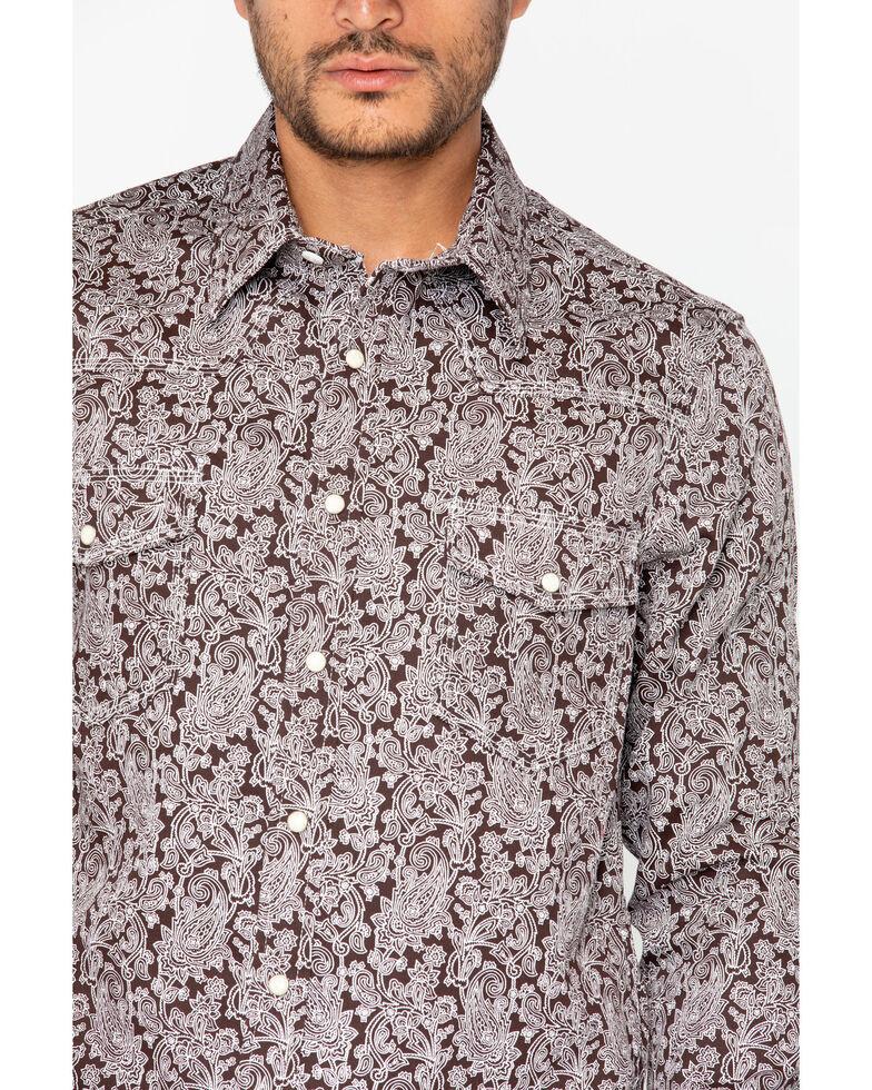 Rock & Roll Denim Men's Fire Resistant Printed Twill Shirt , Brown, hi-res