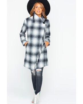Tasha Polizzi Women's Oxford Buffalo Check Plaid Coat , White, hi-res