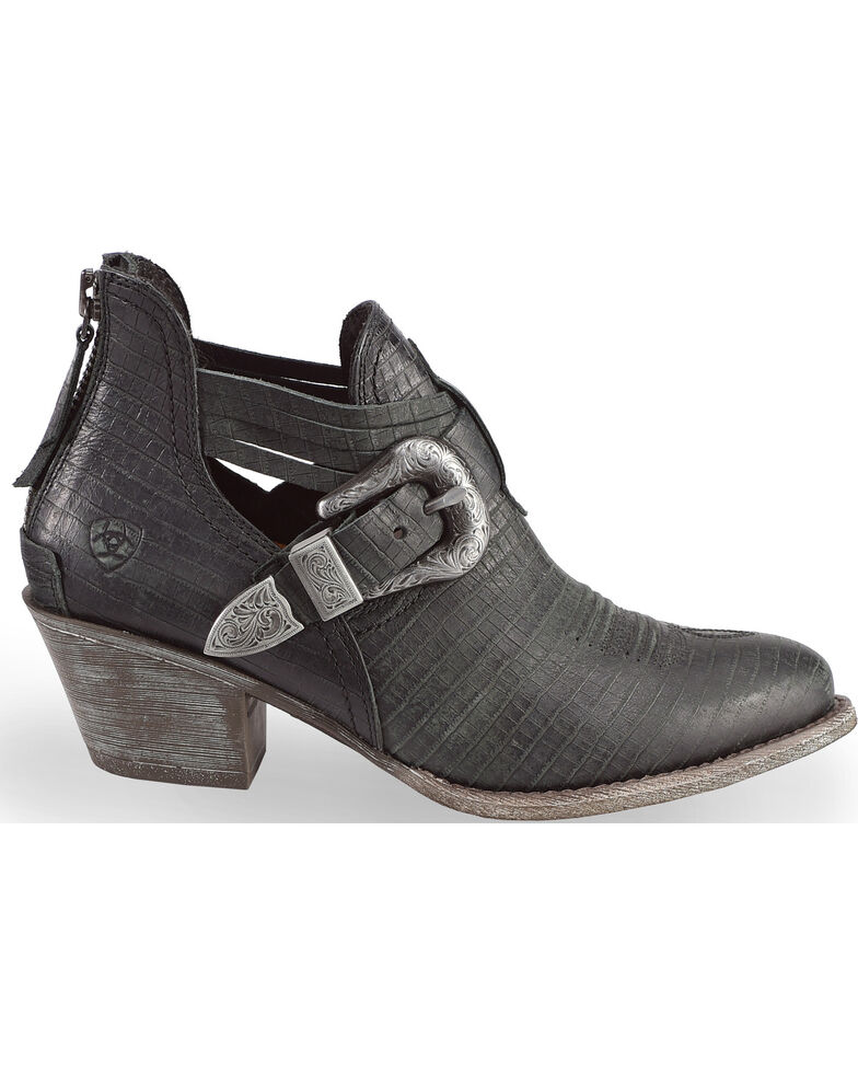 Ariat Women's Dulce Black Snake Print Booties - Medium Toe, Black, hi-res