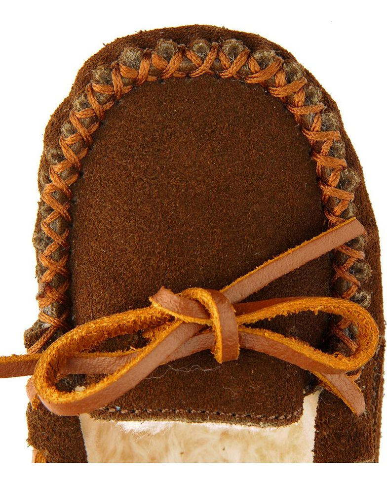 Minnetonka Cassie Kids' Moccasins, Chocolate, hi-res