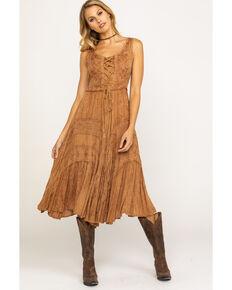 6434c097bb6cfa Scully Womens Lace-Up Jacquard Dress