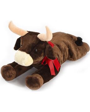 Aurora Plush Bull with Ribbon, Brown, hi-res