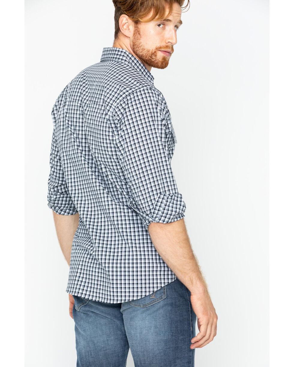 Wrangler Men's Wrinkle Resist Plaid Long Sleeve Shirt, Black, hi-res