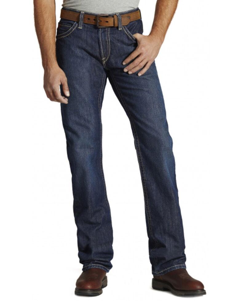 Ariat Men's Flame Resistant M4 Bootcut Work Jeans, Denim, hi-res