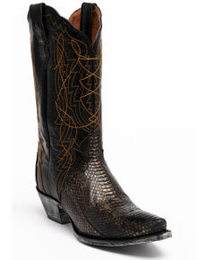 Dan Post Women's Water Snake Western Boots - Snip Toe, Grey, hi-res