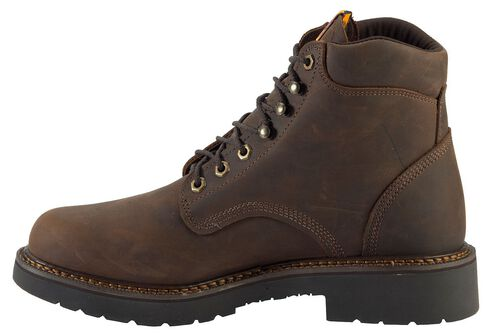 "Justin Men's J-Max 6"" Balusters Rugged Bay EH Lace-Up Work Boots - Soft Toe, Brown, hi-res"