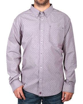 Cody James Men's Pattern Long Sleeve Shirt , Burgundy, hi-res