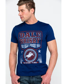 Dale Brisby Men's Ridin Bulls Graphic T-Shirt , Navy, hi-res