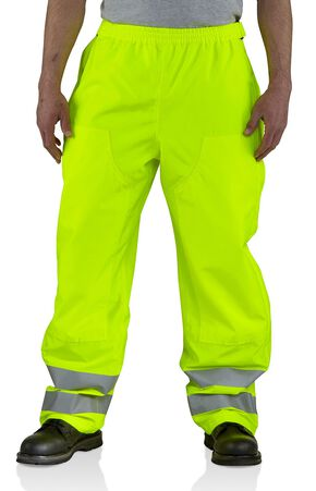 Carhartt High-Visibility Class E Waterproof Pants, Lime, hi-res