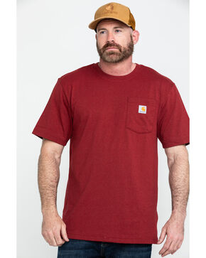 Carhartt Men's Red Workwear Pocket Work T-Shirt , Red, hi-res