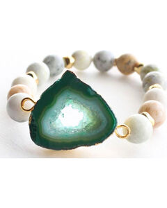 Everlasting Joy Women's A Bloom in Green Bracelet, Green, hi-res