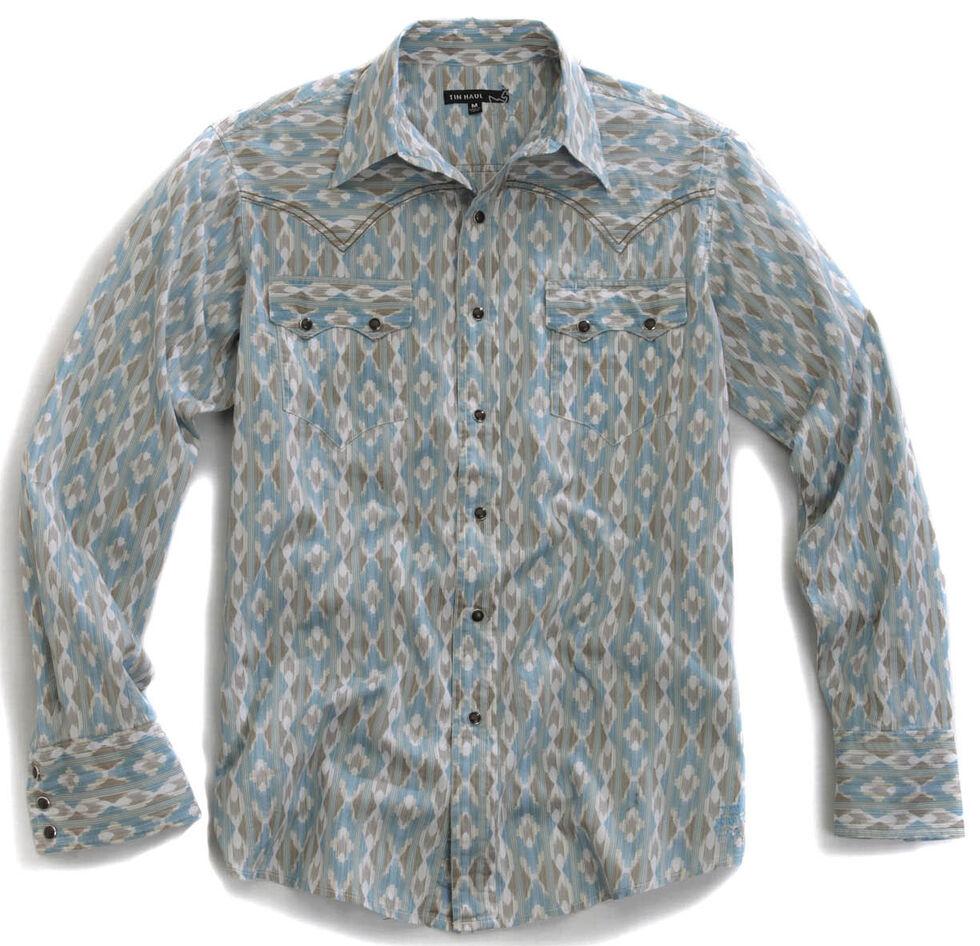 Tin Haul Men's Arrow Aztec Print Snap Western Shirt, Blue Multi, hi-res
