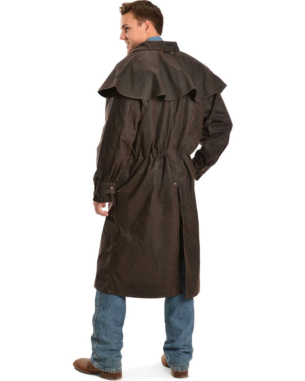 Outback Trading Co. Long Oilskin Duster, Brown, hi-res