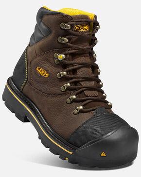 """Keen Men's Milwaukee 6"""" Waterproof Work Boots - Steel Toe, Black, hi-res"""