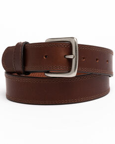 Hawx Men's Apache Double Stitched Work Belt , Brown, hi-res