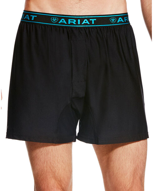 Ariat Men's Black AriatTEK UnderTEK FreeFit Boxer , Black, hi-res
