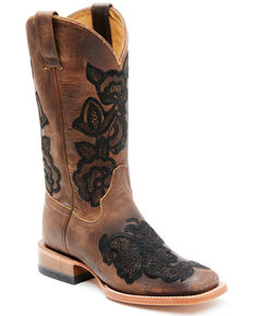 Shyanne Women's Mabel Western Boots - Wide Square Toe, Brown, hi-res