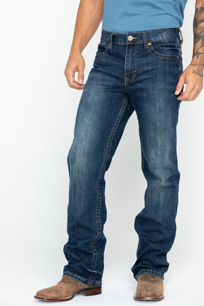 Cody James Men's Copperhead Slim Fit Boot Cut Jeans, Indigo, hi-res