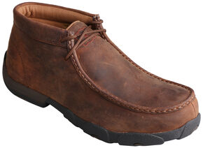 Twisted X  Men's Casual Work Driving Mocs - Steel Toe, Peanut, hi-res