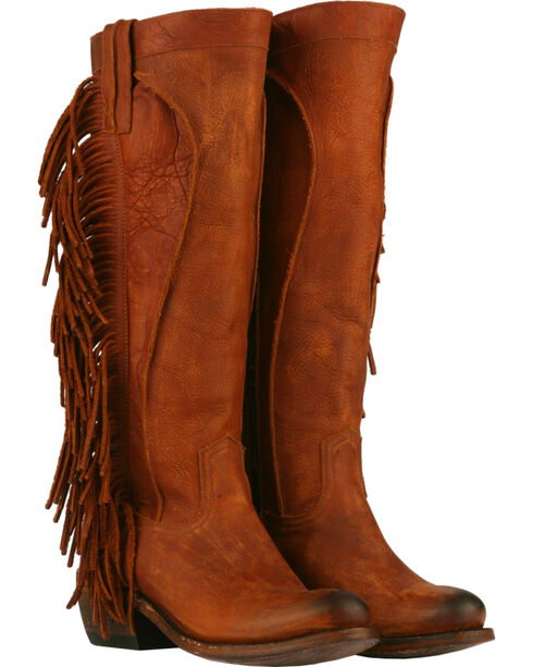 Junk Gypsy by Lane Chili Brown Texas Tumbleweed Boots - Round Toe , Chili, hi-res