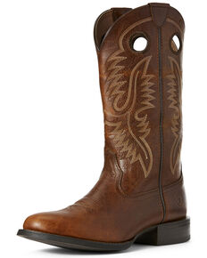 Ariat Men's Sport Big Hoss Patina Western Boots - Round Toe, Brown, hi-res