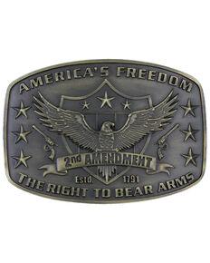 Montana Silversmiths Second Amendment Heritage Attitude Belt Buckle, Gold, hi-res