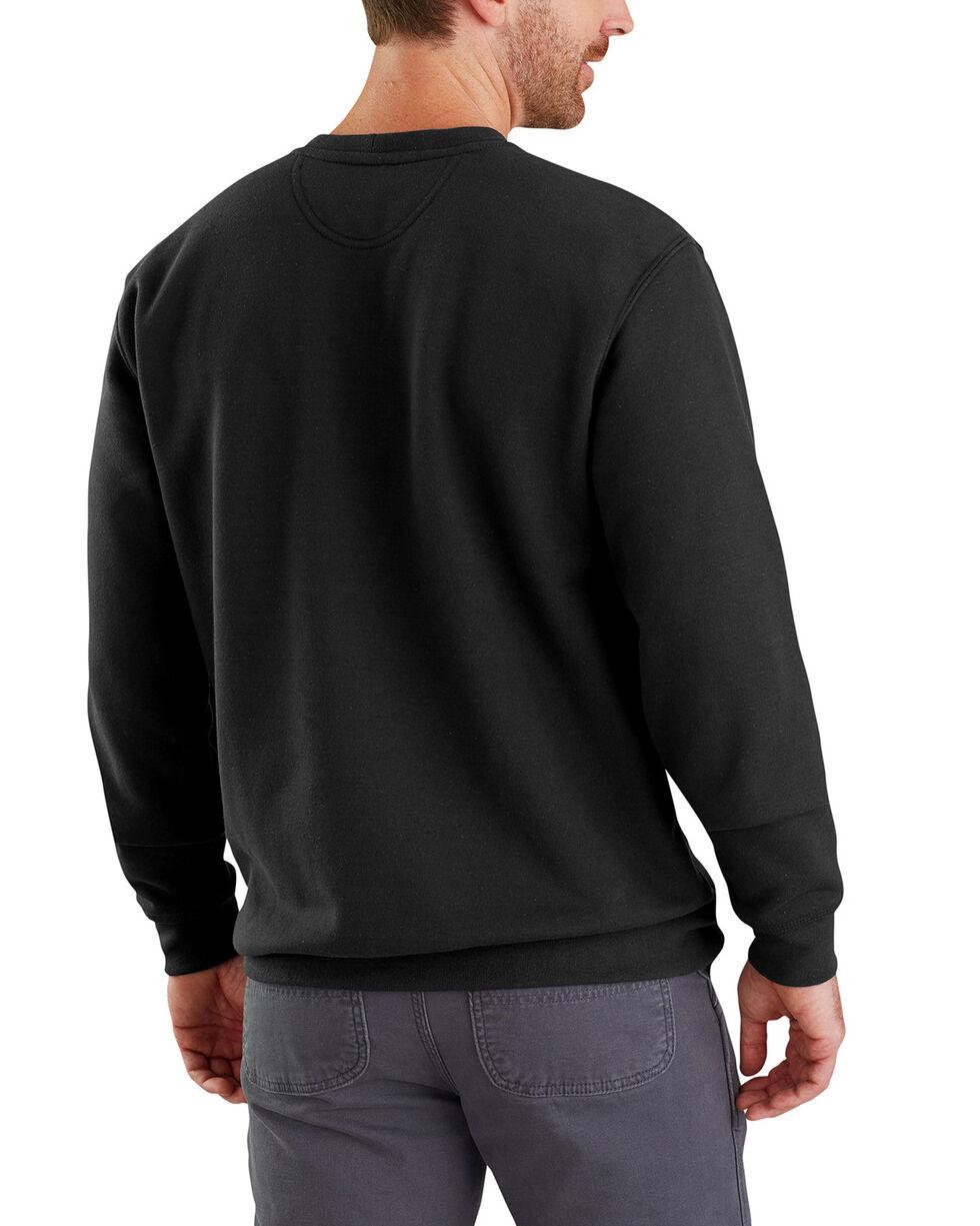 Carhartt Men's Midweight Graphic Crewneck Sweatshirt, Black, hi-res