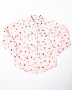 Shyanne Toddler Girls' Cactus Ditsy Print Long Sleeve Top, Pink, hi-res