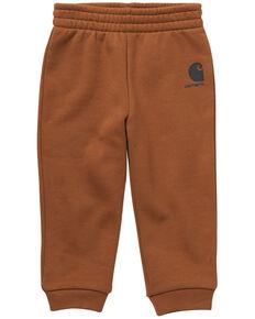 Carhartt Infant Boys' Brown Brandmark Graphic Loose Fit Fleece Sweatpant , Brown, hi-res