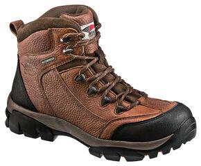 Avenger Men's Brown Waterproof Breathable Work Boots, Brown, hi-res