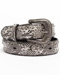 Shyanne Women's Snake Printed Concho Western Belt , Python, hi-res