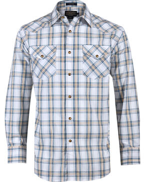 Pendleton Men's White Grid Plaid Long Sleeve Shirt , White, hi-res