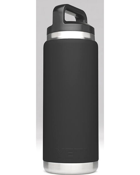 Yeti Black 26 oz. Bottle Rambler , Black, hi-res